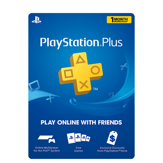 Buy PSN Plus Gift Card - USD 1 Month (India): OfficialReseller.com: Gift Cards pay in Indian Rupees get 1 month worth of PSN plus membership gift card