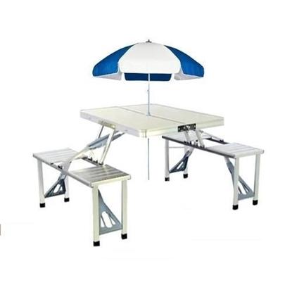 Portable Aluminium Picnic Table with Umbrella (Free)