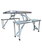 Portable Aluminium Picnic Table with Umbrella (Free)