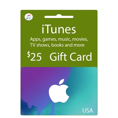 Buy iTunes Gift Card - USA 25$ (India): OfficialReseller.com: Gift Cards pay in Indian Rupees get USA 25$ worth of iTunes gift card