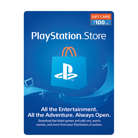 Buy PSN Gift Card - USD 100$ (India): OfficialReseller.com: Gift Cards pay in Indian Rupees get 100$ worth of PSN gift card