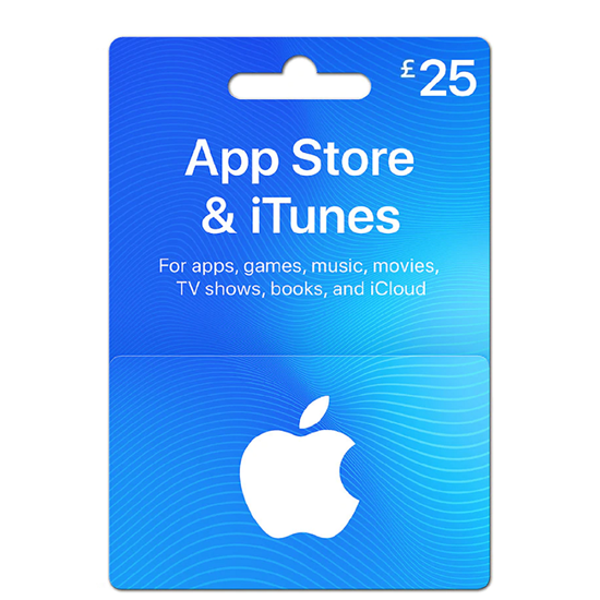 Buy iTunes Gift Card - UK 25£ (India): OfficialReseller.com: Gift Cards pay in Indian Rupees get UK 25£ worth of iTunes gift card